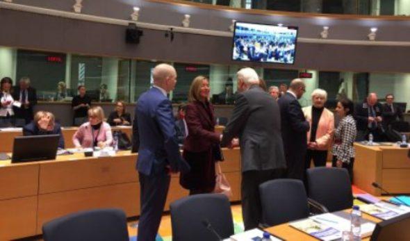 Ministrul Teodor Meleșcanu a pledat, la Bruxelles, în favoarea menţinerii atenţiei şi sprijinului UE pentru parcursul european al Republicii Moldova