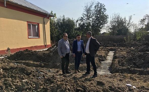 Conducerea Consiliului Județean Dâmbovița, vizită de lucru la obiectivele de investiții din comuna Vișina