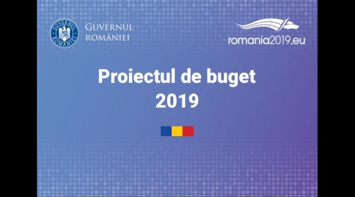 Proiectul de buget pentru anul 2019