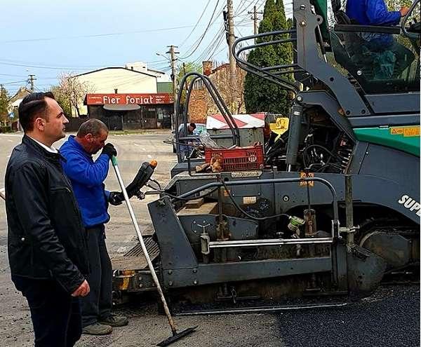 Cristian Stan: A inceput turnarea stratului 2 de asfalt pe strada Tudorica Popescu din Târgovişte