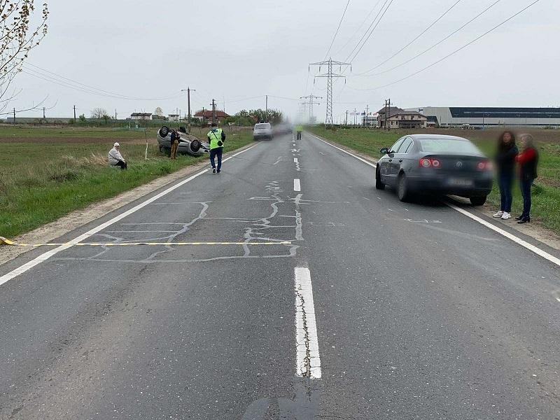 Accident pe drumul național 71, la Ulmi