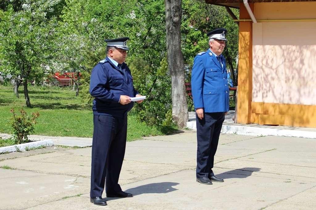 28 de ani de carieră militară - Un ofițer jandarm, la încheierea mandatului de onoare în instituția Oamenilor de Arme