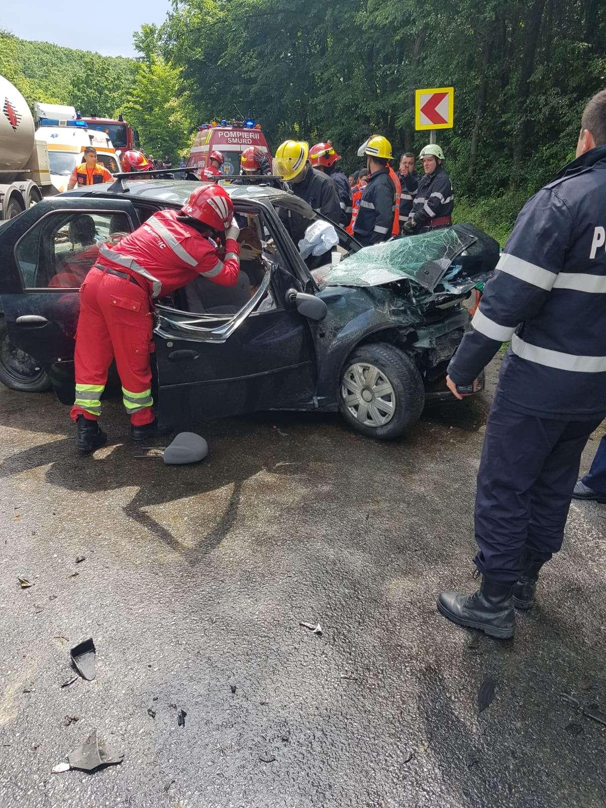 Accident pe DN 72. 3 persoane au fost rănite