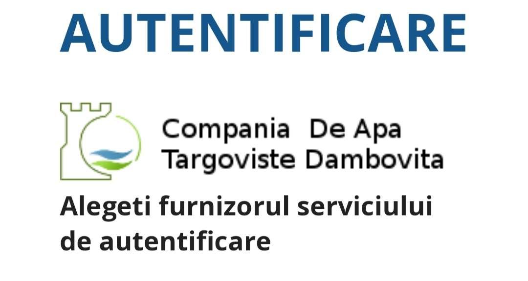 Portalul online al Companiei de Apă Târgoviște vă oferă mai multe facilități