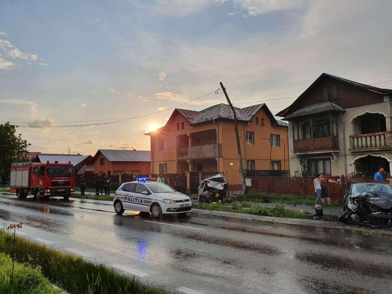 Accident la Găești! Un bărbat a distrus trei mașini