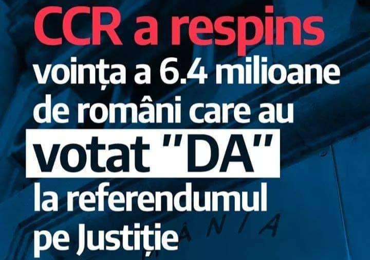 USR: Decizia CCR ignoră votul a peste 6,4 milioane de români
