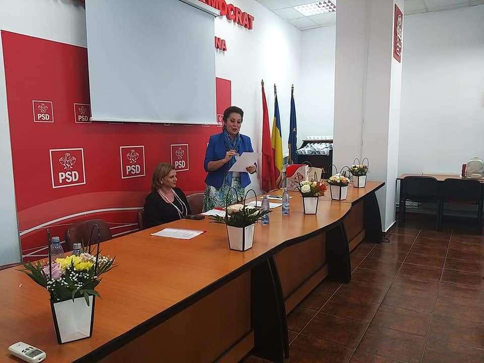 Carmen Holban a fostrealeasă președinte al femeilor social democrate din municipiul Târgoviște