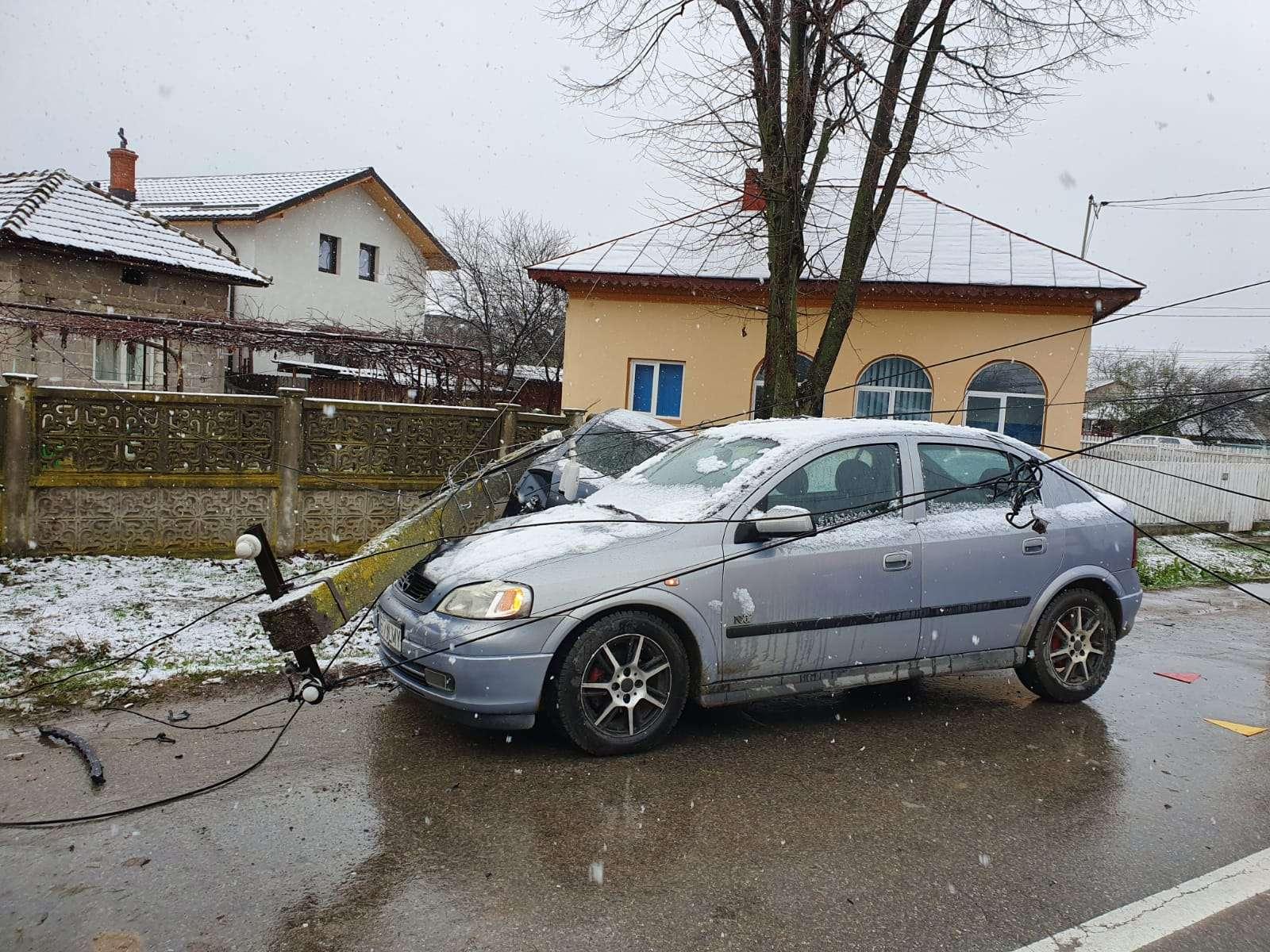 Accident grav la Produlesti! Mai multe masini au fost avariate