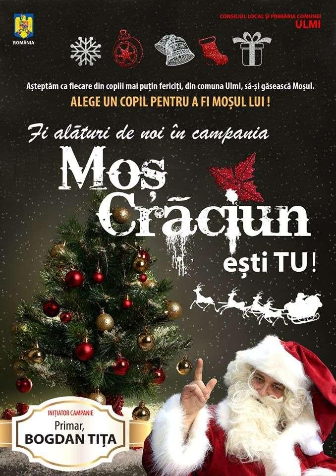 Primarul Bogdan Tița va invită la campania -Moș Crăciun esti tu-